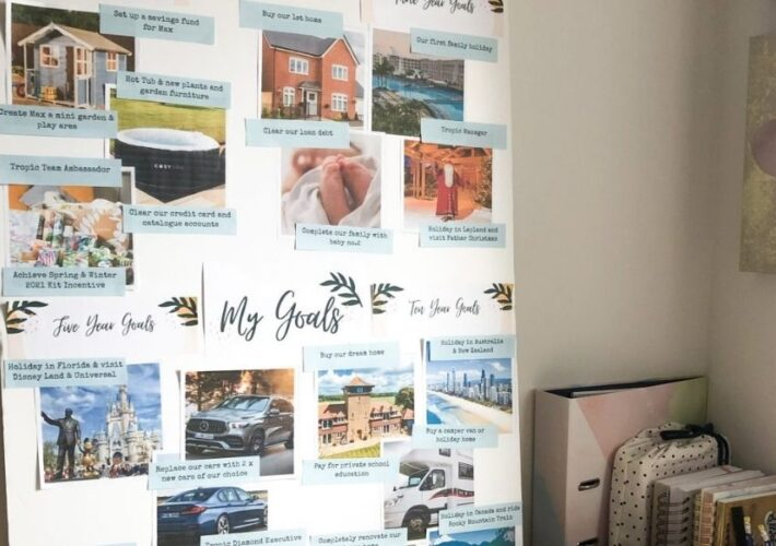 Setting your goals and creating a vision board
